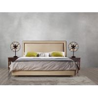Quality 2017 new design of Leather / Fabric American style Bedroon furniture Upholstered headboard set bed/king size Bed for sale