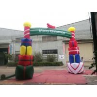 Quality Colorfull PVC Coated Nylon Inflatable Christmas Decorations / Blow Up Arch for sale