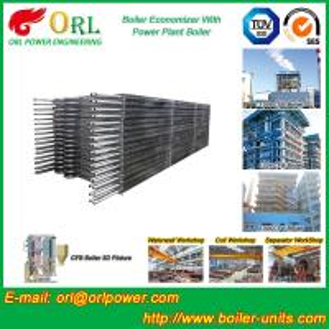 Quality Condensing CFB Boiler Economizer Coil / Economiser In Power Plant power plant economizer for sale