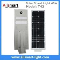 Quality 40W All in One Solar Street Lights Integrated Solar LED Street Light Motion Sensor Solar Lights Outdoor Driveway Lights for sale