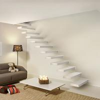 Quality Wooden stair with Glass railing/ Build Floating Stair for sale