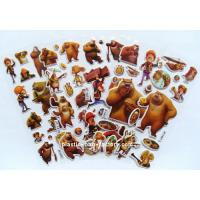 Quality Self Adhesive Puffy Animal Stickers EVA Cartoon Bear Pattern For Children for sale