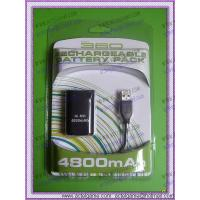 China Xbox360 Rechargeable Battery Pack 4800mAh with usb cable Xbox360 game accessory on sale