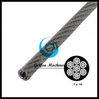 China Vinyl Coated Galvanized Steel Cable 7x19-Aircraft Cable(Linear Foot) on sale