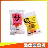 Quality Zip Lock Plastic Biohazard Specimen Bags / Vaccine Transport Bags Waterproof for sale