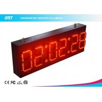 Quality Ultra Thin Wall Digital Led Clock Display / Red Led Wall Clock for sale