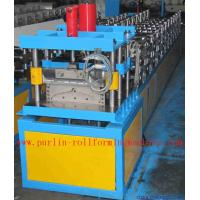 Quality Corrugated Color Steel Roof Ridge Cap Roll Forming Machine , Trapezoidal Profile Roll Former for sale