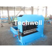Quality 0-10M / Min Cold Roll Forming Equipment , Roof Sheet Making Machine 500mm Curving Radius for sale