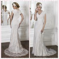 Quality CAPE Sleeves Lace wedding dress #5MR150 for sale