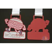 Buy cheap Die Cast Brain Trust Custom Metal Medallions Spray Light Red Color from wholesalers