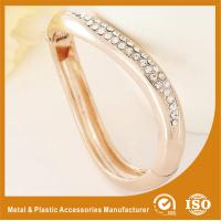 Quality Gift / Decoration Zircon Gold Metal Bangles , Gold Bracelets Bangle for sale
