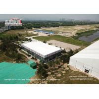 China Aluminum Cube Clear Span Tents with Thermal Roof Cover for Office House on sale