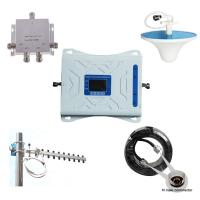 China lcd display 2G 3G 4G 900/1800/2100/2300MHz GSM/WCDMA/LTE Tri band mobile signal booster for sale