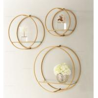 Quality Metal Round Shape Wall Hanging Display Hanging Wall Shelves Decorative Modern Home Wall Decoration for sale