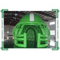 Quality 0.5mm PVC Sport Advertising Inflatables , Green Inflatable Football Tunnel for sale