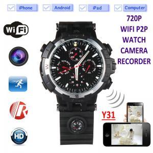 Buy Y31 16GB 720P WIFI IP Spy Watch Hidden Camera Recorder IR Night Vision Home at wholesale prices