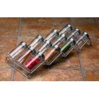 Quality high quality clear glass spice jar sets with rack for sale