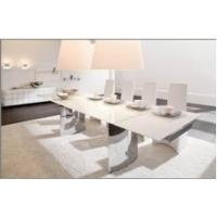Quality Easy instal could extend tempered glass topped dining tables for sale