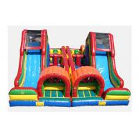 Quality CE Certificate Colorful Inflatable Assault Course Rental , Inflatable Course For Amusement Park for sale
