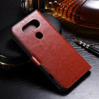 Quality Protective LG Leather Case for LG V20 Handmade Folio Style Side - Open With Hole for sale