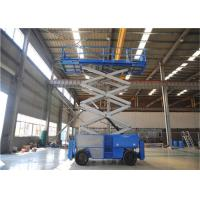 China 16m Mobile Self Propelled Scissor Lift Two Man Engine Powered For Tight Spaces for sale