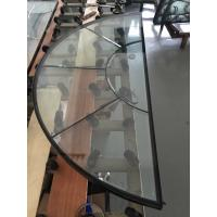 Quality semicircle patina caming decorative glass all clear beveled for sale