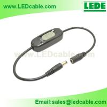 LED Lighting Inline Switch, Slide Design, with DC barrel connector for sale