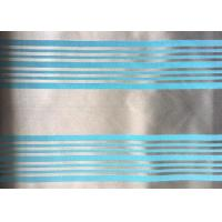 Quality Woven Blue Jacquard Damask Fabric Striped Jacquard Bed Linen for sale
