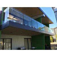 Quality Exterior balcony glass balustrade with stainless steel spigots glass railing for sale