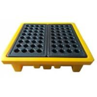 Quality Leak Proof 4 Drum Spill Containment Pallet Spill Platform For Drum Storage for sale