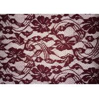 Buy Beauty Chemical Lace Fabric / Cupion Lace Fabric With Polyester / Cotton Material at wholesale prices