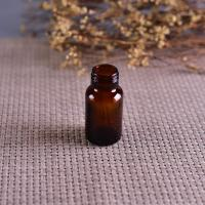 Quality Old Brockway Glass amber medicine bottle Brown 2 OZ silk screen printing for sale