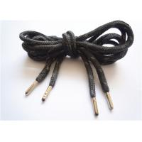 Buy Elastic Black Flat Shoe Laces / Basketball Shoe Laces Durable at wholesale prices