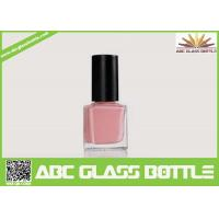 Buy High quality 15ml clear empty elegant square nail polish oil glass bottle with cap and brush wholesale at wholesale prices