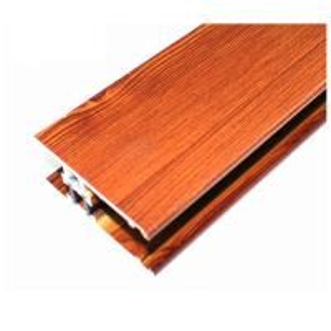 Quality Square Wood Finish Aluminium Profiles , Different Colors Aluminium Framing Systems for sale