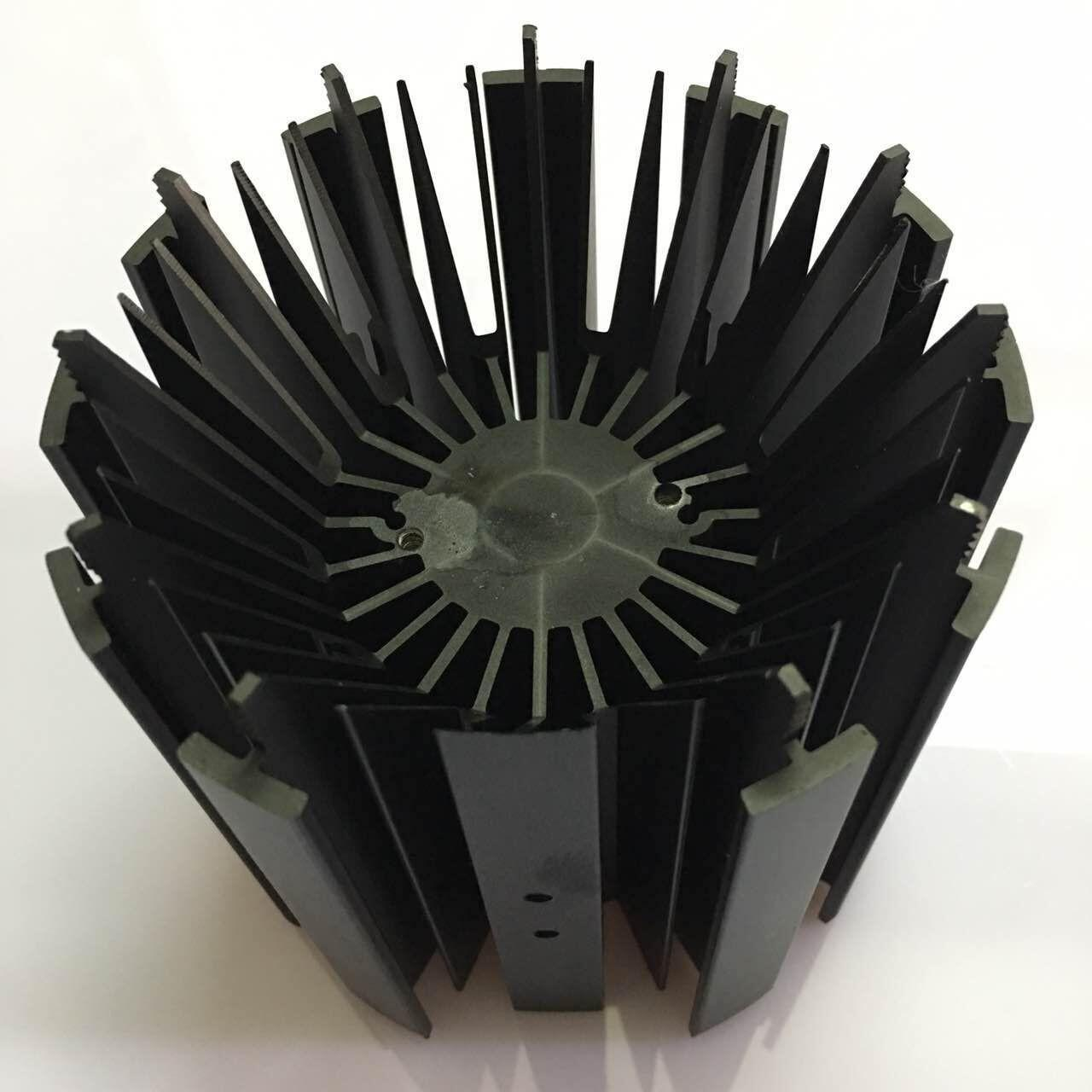 Quality CNC Machining LED Module Street Light Aluminum Heat Sink Profiles With Black Anodizing for sale