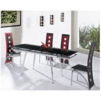 Quality Modern Popular Tempered Glass Chromed Iron extending glass dining table for sale