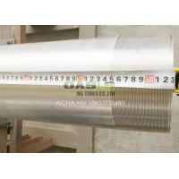Quality 6 5/8 Water Well Screens 304 Pickled Silver Stainless Steel Casing and Tubing Pipes for sale