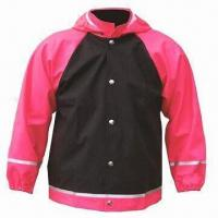 Quality Children's rain jacket/coat, made of PU fabric, waterproof 3000 for sale