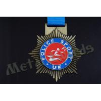 Star Shaped Medals Promotional Items , Personalized Medals And Ribbons