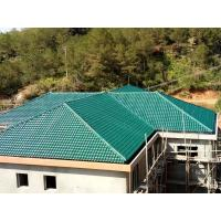 Quality 1050mm width Acoustic Corrugated Pvc Roofing Sheets For Villa / Hotel for sale