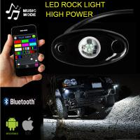 Quality China 12v 24v RGB LED Rock Light Kit 4pack 6pack 8pack 12pack Waterproof IP67 LED Deck Lights with Bluetooth APP Control for sale