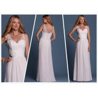 Quality Sheath Chiffon Beach wedding dress Bridal gown#6458 for sale