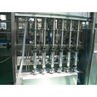 Quality 25 ~ 30 bpm Piston Filling Machine with 6 to 12 filling nozzles for Oil, Syrup & Detergent for sale