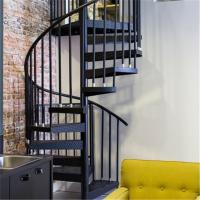 Buy cheap Indoor carbon steel handrail glass spiral staircase from wholesalers