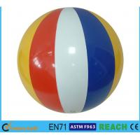 "16"" Diameter Giant Beach Ball , Rainbow Colored Plastic Beach Balls For Swimming Pools"