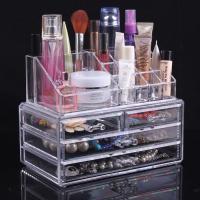 Quality Multifunction Plastic Makeup Display Stand Jewelry Display Cases With Three Drawer for sale