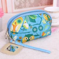 Quality Medium Makeup Bag/ Custom Cosmetic Bags With Zipper Flower Animal Printing for sale