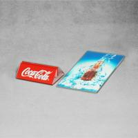 Buy Advertising Banner Stands Clear Acrylic Menu Holders Coca Cola New Launch at wholesale prices