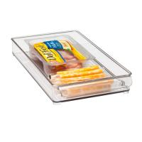 Quality Rectangle Clear Acrylic Tray , 300 * 100 * 40mm OEM Logo for sale
